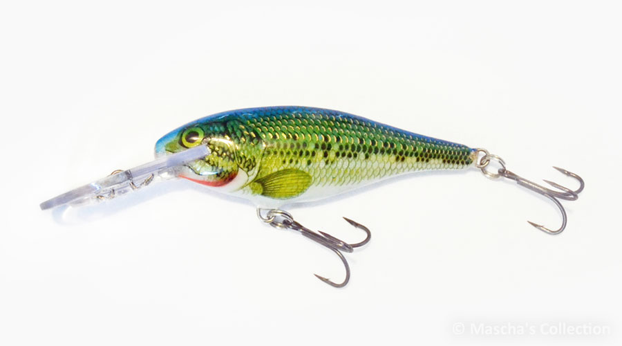 Rapala Shad Rap Deep Runner SR07, color Blue / BabyBass multicolor (B/BB)