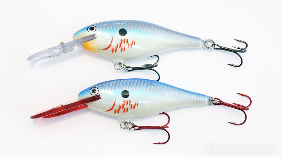 Rapala BSD 2nd generation above, BBSD below