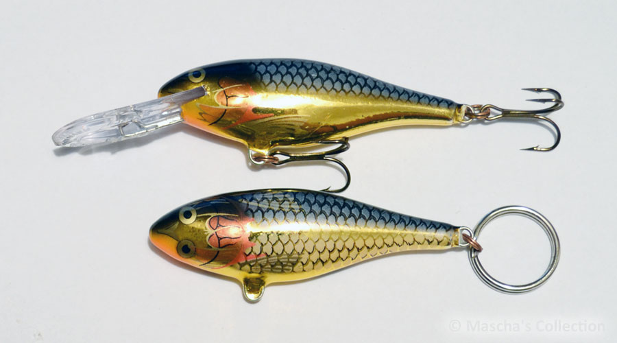 Rapala SR07 SG - 2nd generation, Lure vs. Keyring