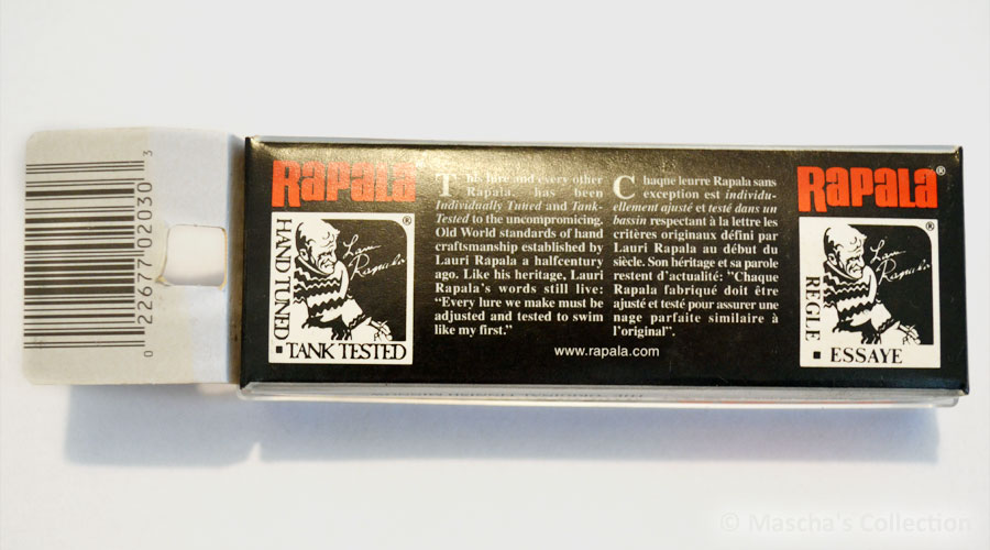 Rapala SR07 HESH - back of the box